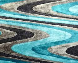 fresh teal and black area rug white 8x10