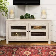 pedestal tv stands for flat screens beautiful 44 inch white wash wood corner tv stand