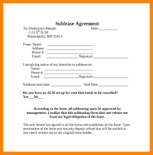 Sublease Agreement Samples Free Sublease Agreement Template Word Sample Property Lease Simple