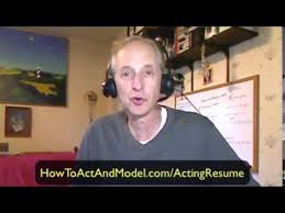 Acting Resume | How To Attach Your Headshot To Your Actor Resume
