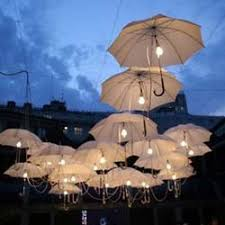unique outdoor lighting ideas. suspend umbrellas with lights for a mary poppins outdoor movie event movies under the stars theming idea from southern cinema unique lighting ideas