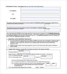 A tenancy agreement must include: Free 10 Sample Tenancy Contract Templates In Pdf Ms Word