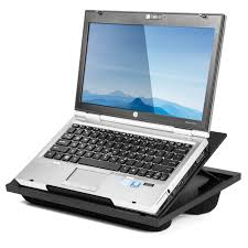 halter lap desk laptop stand with 8 adjule angles and dual microbead bolster cushions