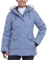 Tina Faux Fur Trim Hooded Down Puffer Coat