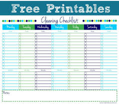Editable Cleaning Schedule New Cleaning Checklist Free