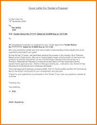 Proposal Letter 24 Tender Proposal Letter Sample Lease Template 11