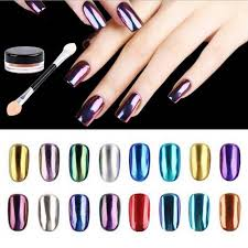 Zbrusu Nový 1g Box Magic Nail Glitter Metal Chrome Sequins Zrcadlo Práškové Pigmentové Nehty Art Dekorace Gel Nail Polish 16 Barvy