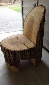 we have a giant pine tree that unfortunately has d this is a tree trunk chairs