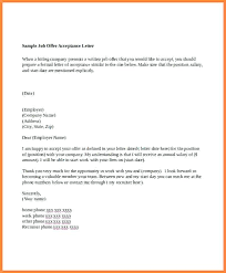 Job Offer Letter Format Sample From Employer Summer Template In