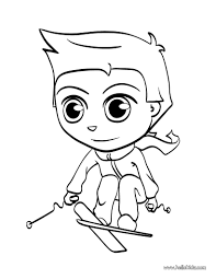 Skiing Kid Coloring Page You Can