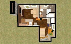 single room house plans home design l shaped house plan idea with wood floor features single