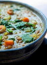 instant pot golden lentil spinach