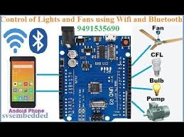 control of lights fan using wi fi and bluetooth