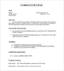 Resume Templates For Freshers Fresher Resume Samples Visualcv