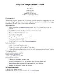 Entry Level Finance Resume Daniel Michener 20 Objective   Mhidglobal.org