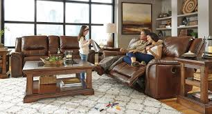 Reclining Living Room Set Jayron Leather Power Reclining Living Room Set Signature Design