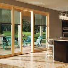 pewaukee sliding door with built in blinds