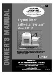 krystal clear r system model cs8110 1 30 pages