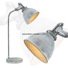 Industriele Tafel Bureaulamp Betonlook Grijs 105619