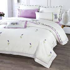 lavender bed sheets purple lavender bedding set white duvet cover sets bed sheets pillowcases queen king size bedroom embroidery lavender oil bed sheets