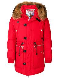 dsquared2 fur trimmed parka designer colour 307 qnphpcv