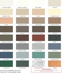 Gutterman Enterprises Gutter Color Chart