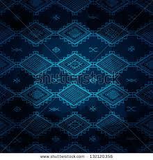 dark blue carpet texture. Seamless Vector Tribal Background. Dark Blue Illustration. Texture Look Carpet