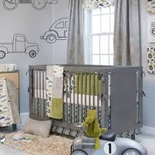 great light blue grey baby nursery room decoration using rectangular grey wood baby crib including lime green grey baby boy crib bedding set and light