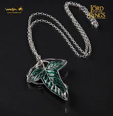 lord of the rings elven leaf brooch pendant by weta image