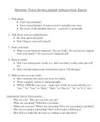 Scholarship Essay Examples Financial Need Scholarship Essay Examples Why I Should Receive A Scholarship Essay
