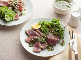grilled tuna with basil pesto recipe giada de lauiis food network