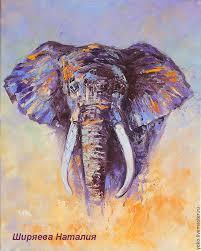 animal painting handmade livemaster handmade elephant painting face to face