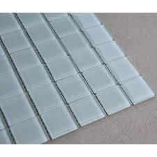 white glass mosaic glossy tile modern backsplash square tiles for bathroom swimming pool