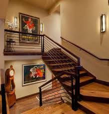 artistic vintage poster decoration comes with the great design staircase landings are great areas to