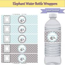 Decorating Water Bottles For Baby Shower Baby elephantbaby showerboy baby showerelephant party 55
