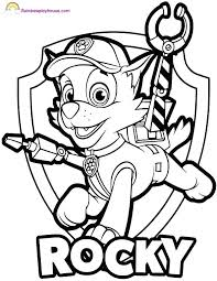 Free Color Pages Paw Patrol Coloring New Rocky And Page Gallery