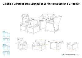 Valencia Verstellbares Dining Lounge Set 2er Mit Esstisch Und 2