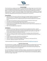 Tour Manager Resume Manager Job Description Operations Manager Resume Job Description 75