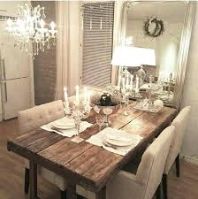 rustic chic dining room tables. rustic chic dining room ideas in love with this table glam setting and lighting . tables