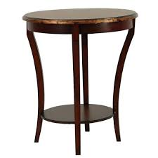 beidermeir dark brown round side table