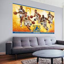 golden state warriors nba wins record mural wall decal in most recent nba wall