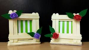 easy photo frame with icecream stick home decor ideas diy popsicle sticks making photo frame