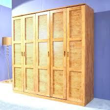 solid wood wardrobe closet closets pure cedar 5 large wooden sliding