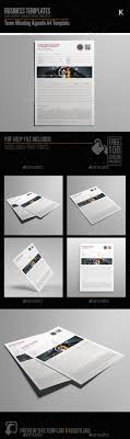 Team Meeting Agenda A4 Template By Keboto | Graphicriver