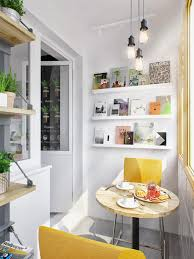 Small Picture White Wooden Wall Mounted Kitchen Shelves With Yellow Chairs 6398