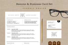 Classic Resume Business Card Set Resume Templates Creative