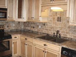 kitchen stone wall tiles. Natural Stone Backsplash Ideas Neatly Stack Round Wall Tile Smooth Gray Ceramic Dark Brown Wooden Countertop Sleek Transparent Glass Kitchen Tiles