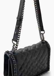 Mango Quilted Panel Bag in Black | Lyst & Gallery Adamdwight.com