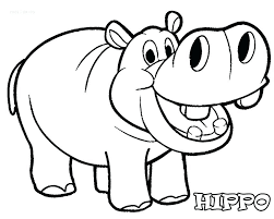 Hippo Coloring Pages Hippopotamus Coloring Pages Pygmy Hippo