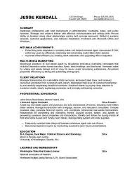 Sample Marketing Resume Objective Statements Top Marketing